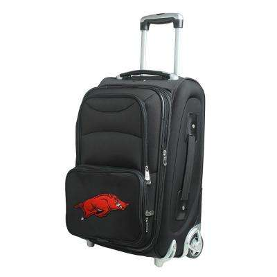 NCAA Arkansas 21 in. Black Carry-On Rolling Softside Suitcase