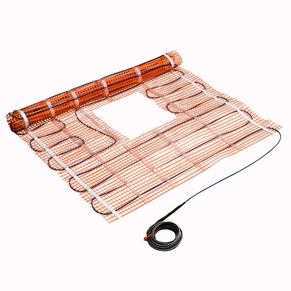 Suntouch floor warming 4 ft x 16 in underfloor radiant floor shower heating mat dailygadgetfo Gallery
