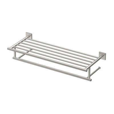 Elevate 26 in. Towel Rack in Satin Nickel