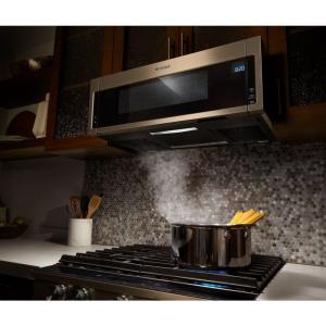 Whirlpool 1 Cu Ft Over The Range Low Profile Microwave Hood Combination In Sunset Bronze