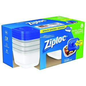 Store SKU #1002961402. Ziploc 0.125 Qt. Extra Small Square Storage Container  sc 1 st  Home Depot & Ziploc 0.125 Qt. Extra Small Square Storage Container-70931 - The ...
