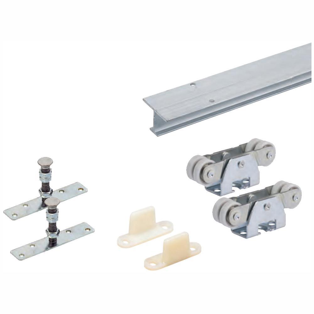96 in. TopLine 71-222 Single Door Hardware and Track