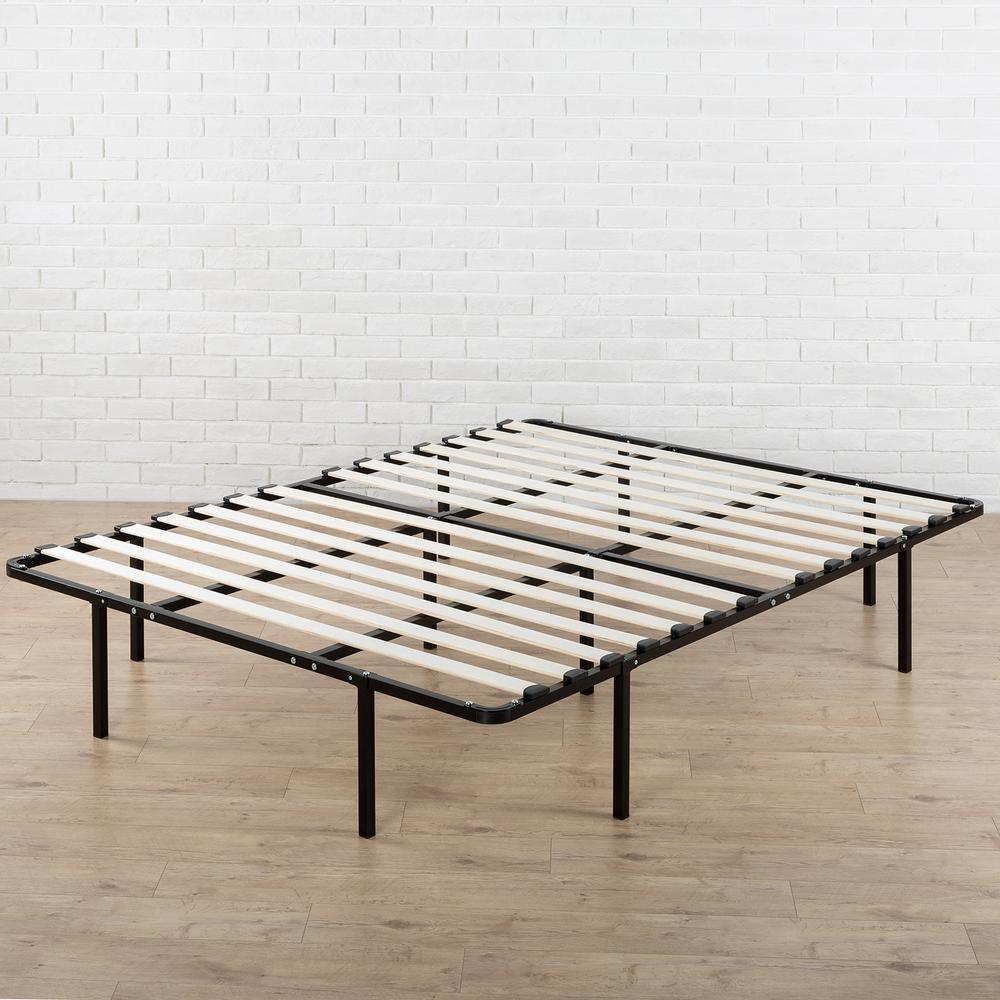 Zinus Cynthia 14 inch My Euro Smart Base/Wooden Slats Mattress Foundation,