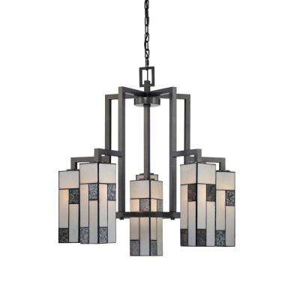 Bradley 6-Light Charcoal Interior Incandescent Chandelier