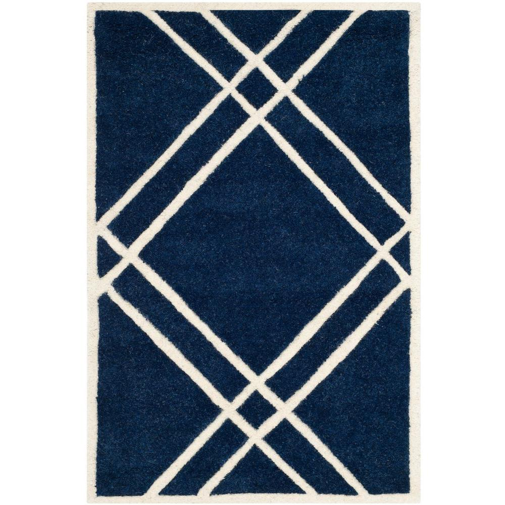 Chatham Dark Blue/Ivory 2 ft. x 3 ft. Area Rug