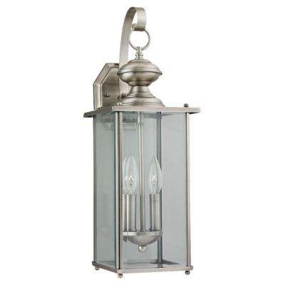 Jamestowne 2-Light Antique Brushed Nickel Outdoor Wall Fixture
