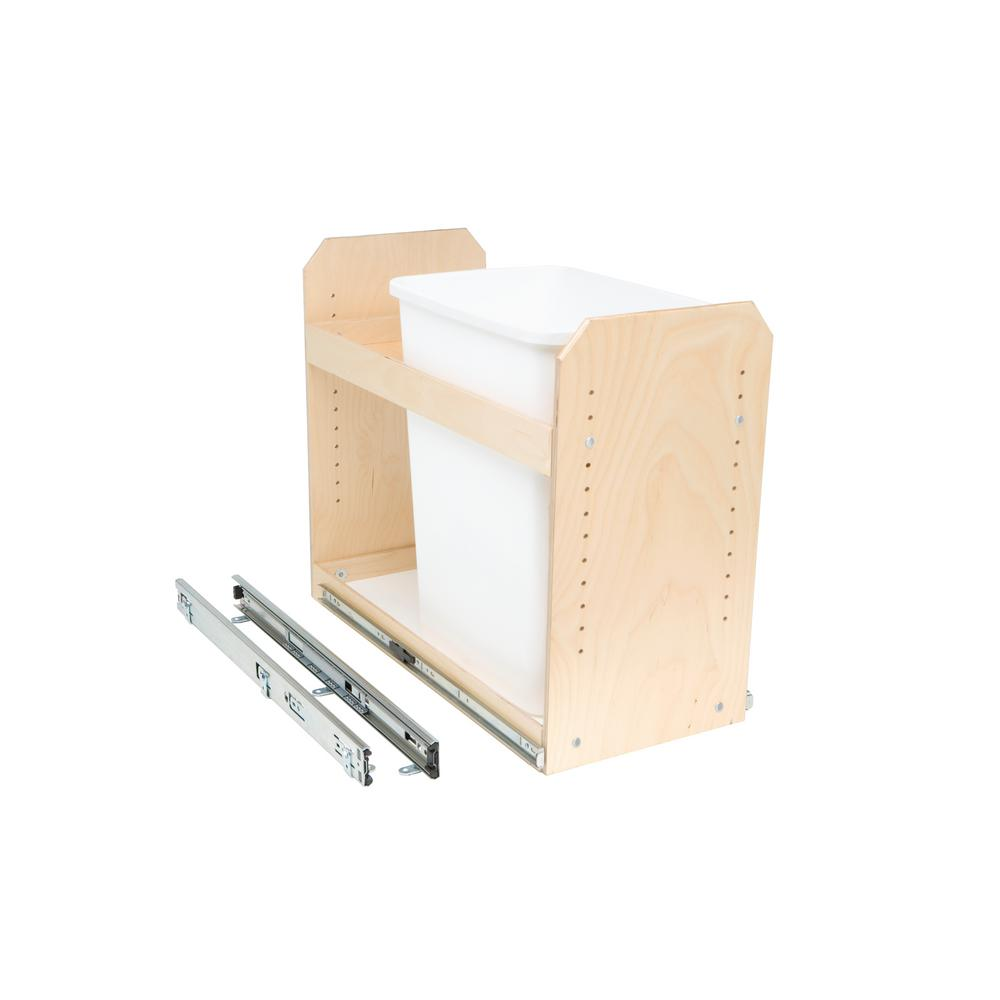 Slide-A-Shelf Made-To-Fit Single Bin Slide-Out Trash/Recycle Center 11 in. to 24 in. Wide Full-Extension Soft Close (Bin Not Included)