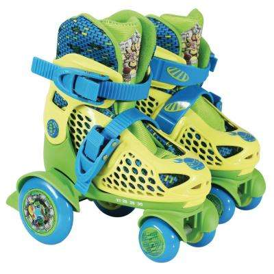 Teenage Mutant Ninja Turtles Junior Size 6-9 Kids Big Wheel Quad Roller Skates