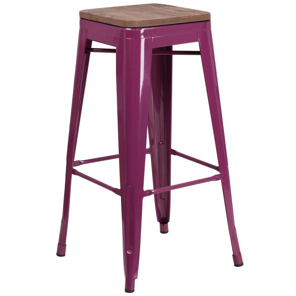 30 in. Purple Bar Stool