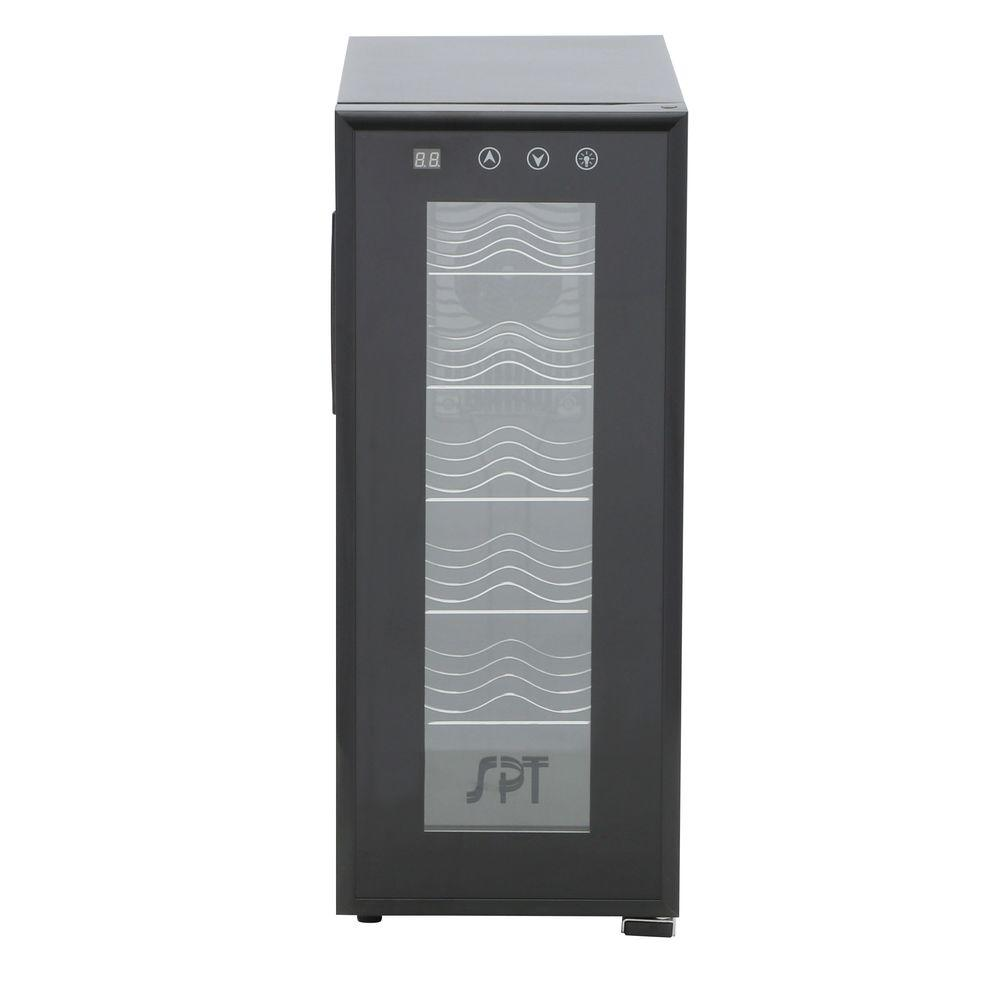 SPT 12-Bottle Thermoelectric Wine Cooler with Heating, Black