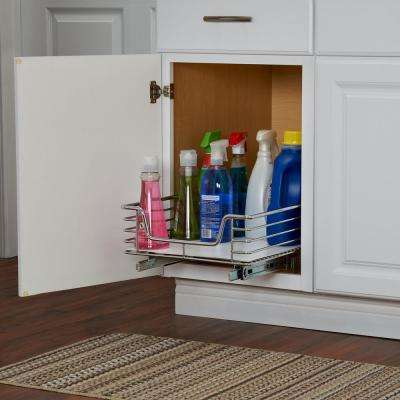 14.5 in. Standard Organizer in Chrome with White Liner