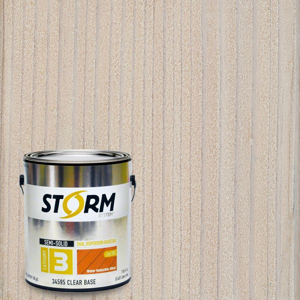 Storm System Category 3 1 gal. Country Club White Exterior Semi-Solid Dual Dispersion Wood Finish