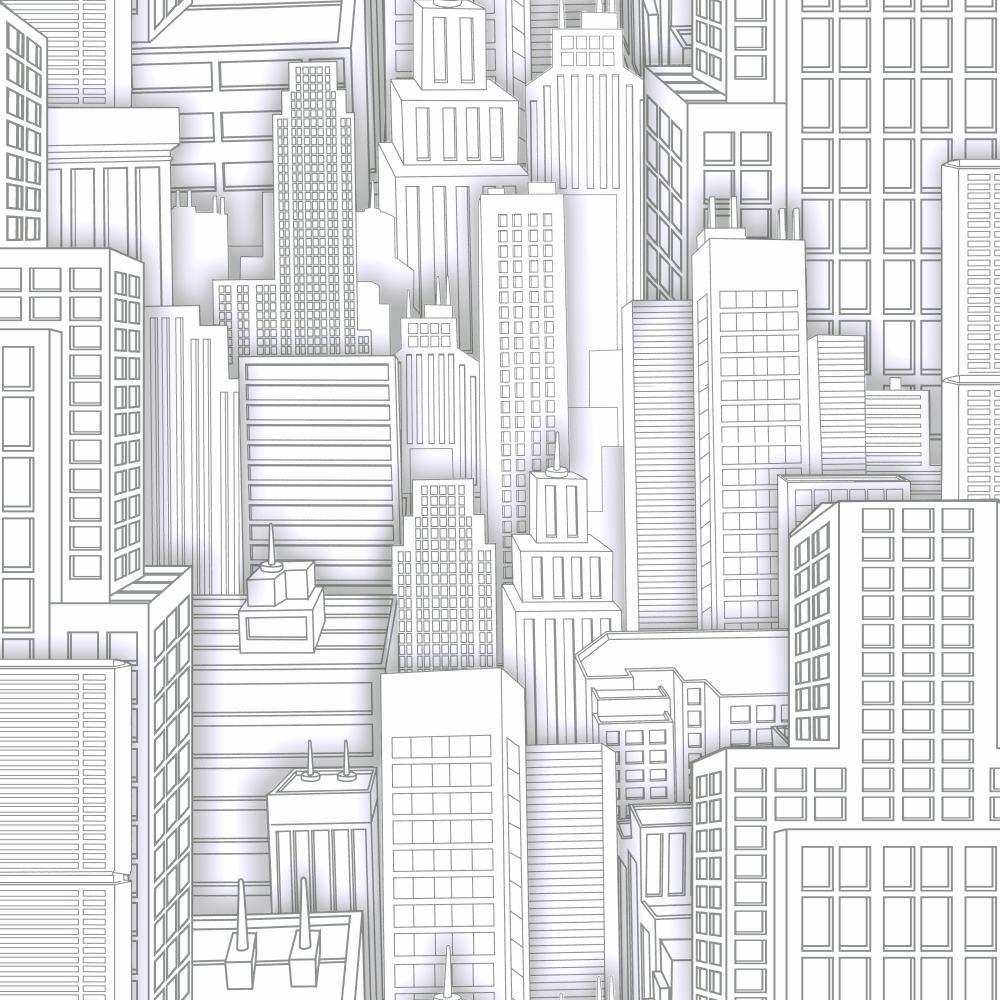 York Wallcoverings Spiderman City Wallpaper-ZB3268