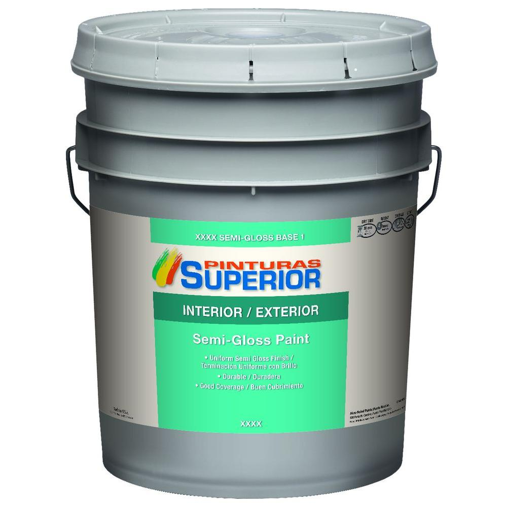 Durable Exterior Paint For Metal Shop Olympic One Base 1 Ultra White Semi Gloss Latex Exterior