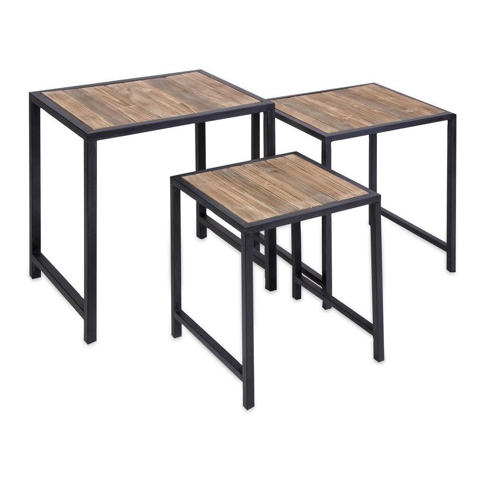 Filament Design Lenor Black 3 Piece Nesting End Table