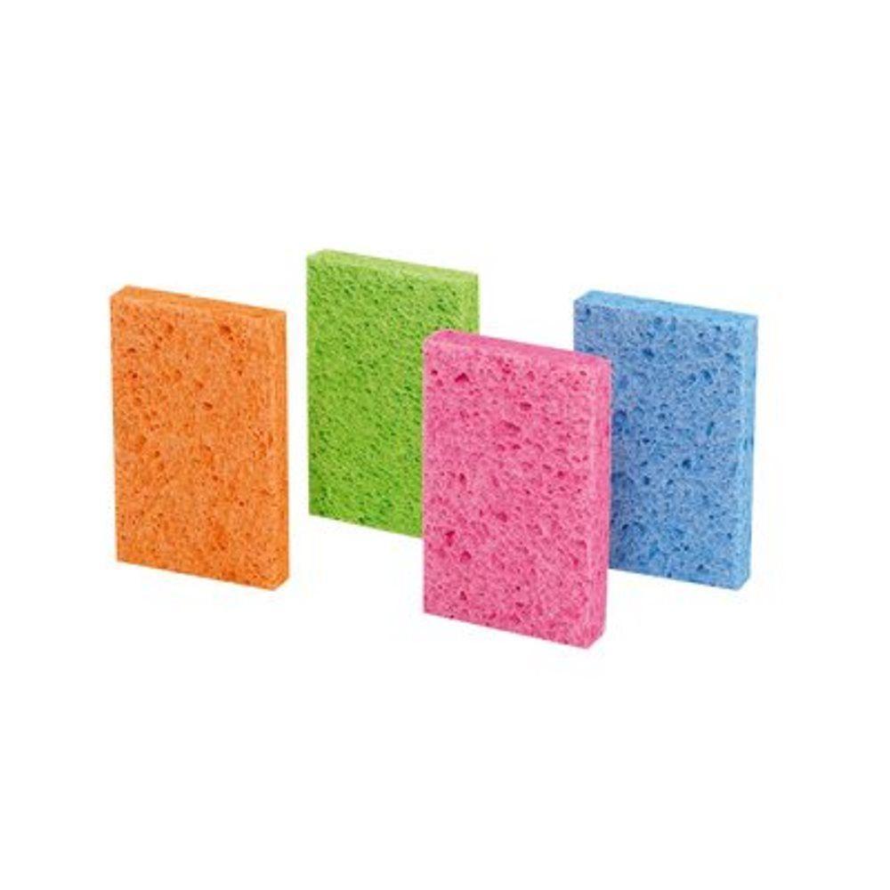 4-3/4 in. x 3 in. x 5/8 in. Stay Fresh Sponge (4-Pack)