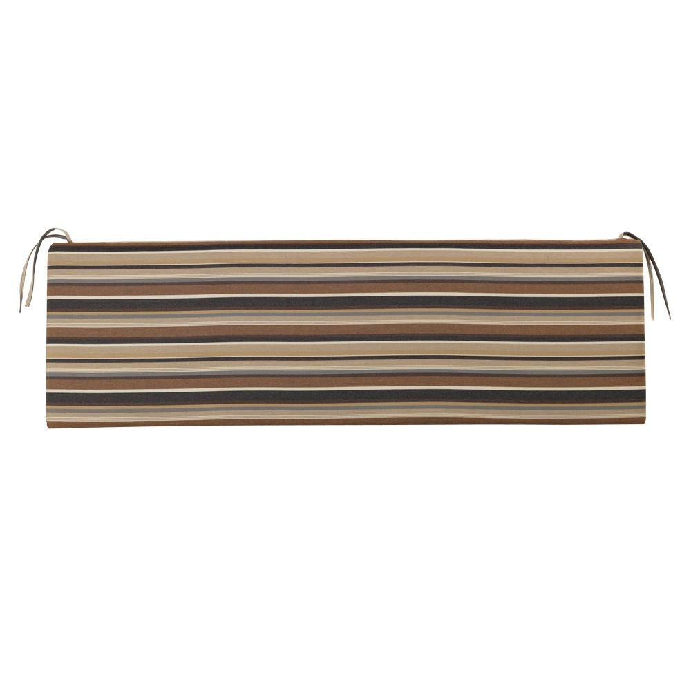 Home decorators collection sunbrella espresso stripe for Home decorators bench