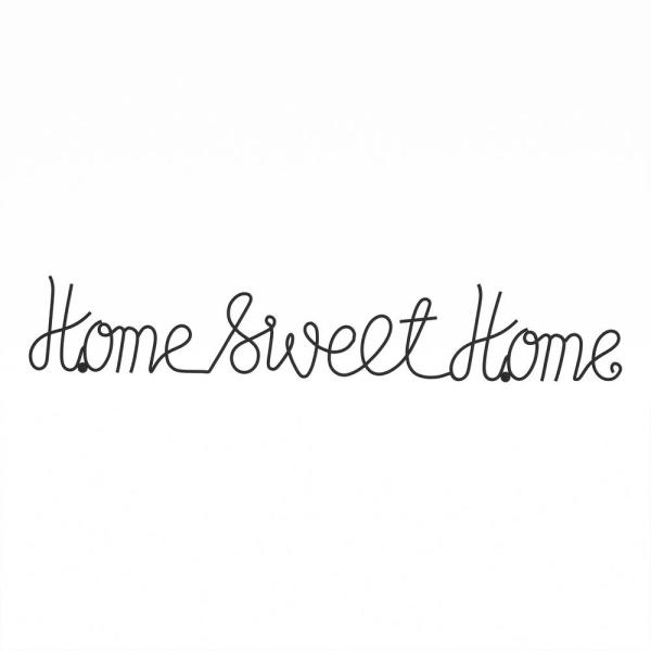 Lavish Home Home Sweet Home Metal Cutout Sign Hw0200043 The Home Depot