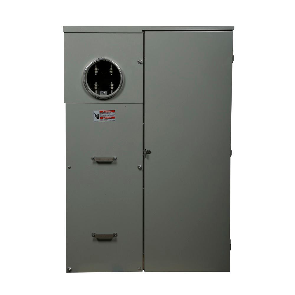 Eaton 400 Amp 8-Space 16-Circuit BR Type Meter Socket and Main Breaker Load Center