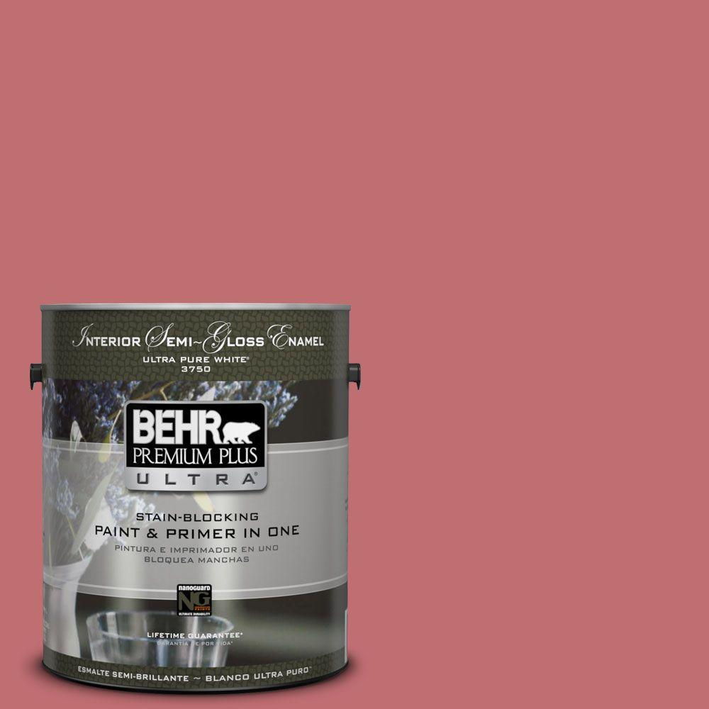 1-gal. #HDC-SP14-8 Art House Pink Semi-Gloss Enamel Interior Paint