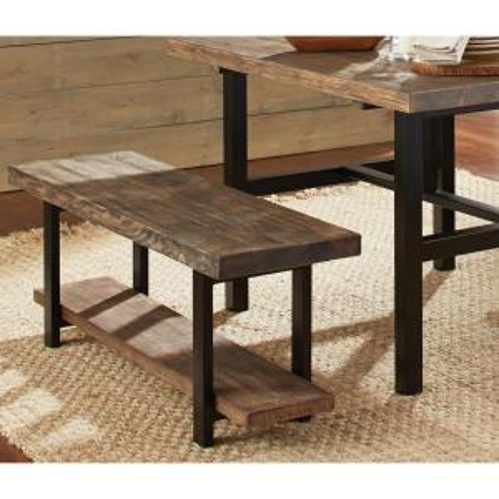 Amazing Alaterre Furniture Modesto Rustic Natural Storage Bench Lamtechconsult Wood Chair Design Ideas Lamtechconsultcom