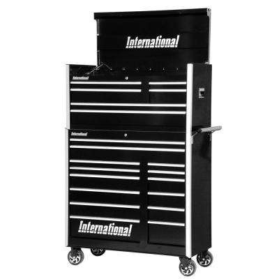 Pro Series 42 in. 20-Drawer Tool Chest and Cabinet Combo in Black