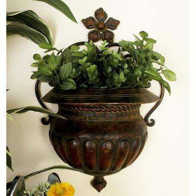 12 in. x 18 in. Dark Bronze Metal Wall Planter