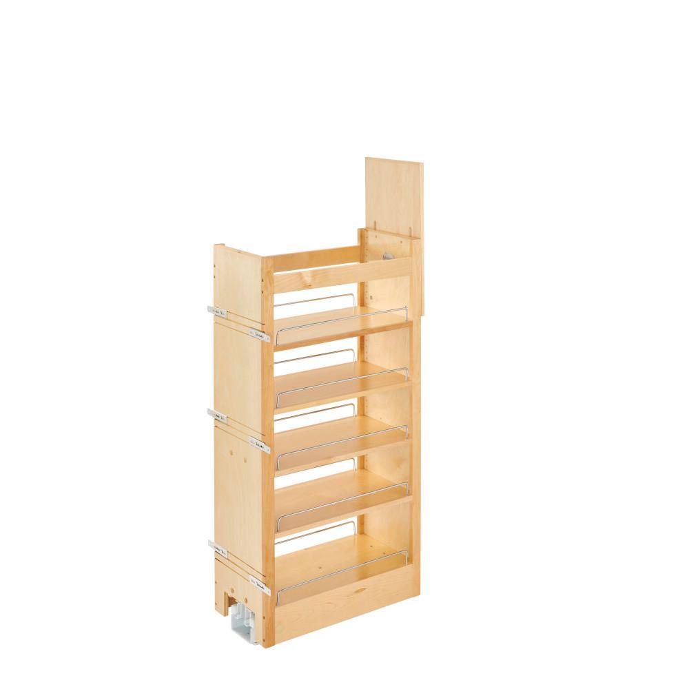 43.375 in. H x 14 in. W x 22 in. D Pull-Out Wood Tall Cabinet Pantry