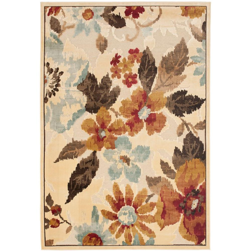 Paradise Cream/Multi 4 ft. x 5 ft. 7 in. Area Rug