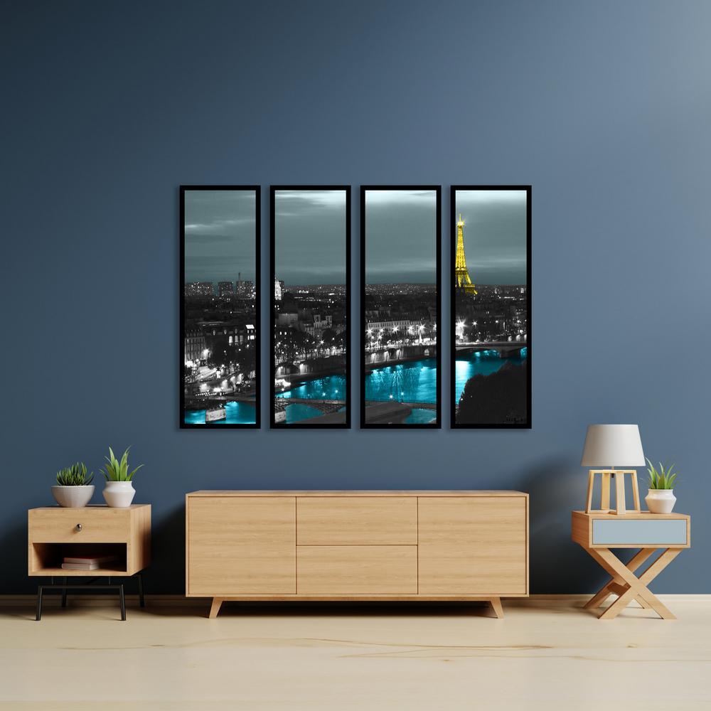ArtWall ''Paris'' by Revolver Ocelot Framed Canvas Wall Art 0oce013d2432f