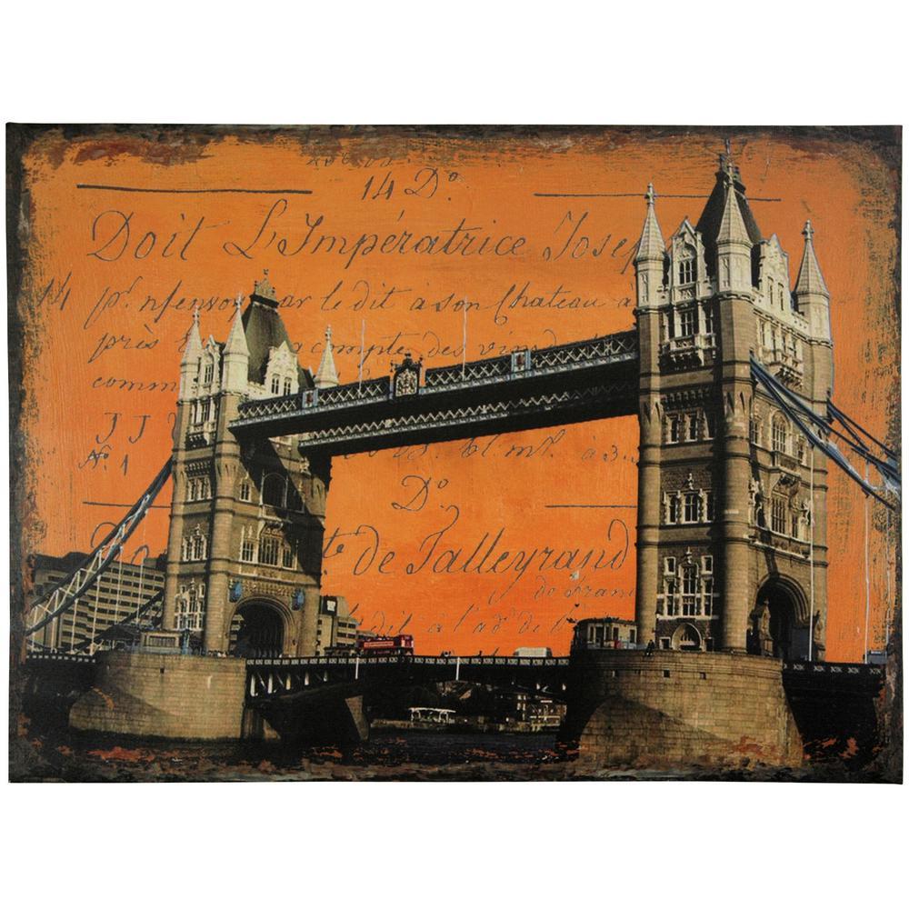 "Oriental Furniture 24 in. x 32 in. ""London Bridge"" Canvas Wall Art"