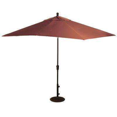 Gentil Rectangular Market Push Button Tilt Patio Umbrella