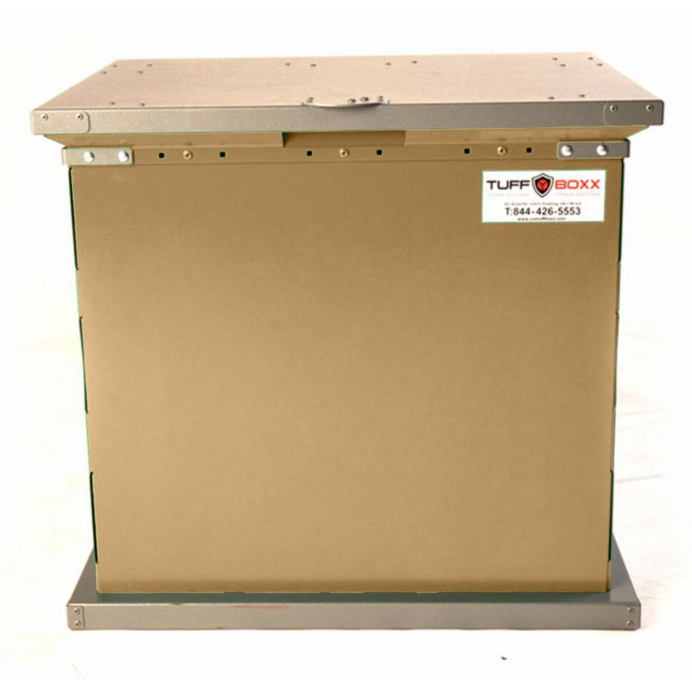 Tan Galvanized Metal Animal Resistant Storage Container  sc 1 st  The Home Depot & BRUIN 100 Gal. Tan Galvanized Metal Animal Resistant Storage ...