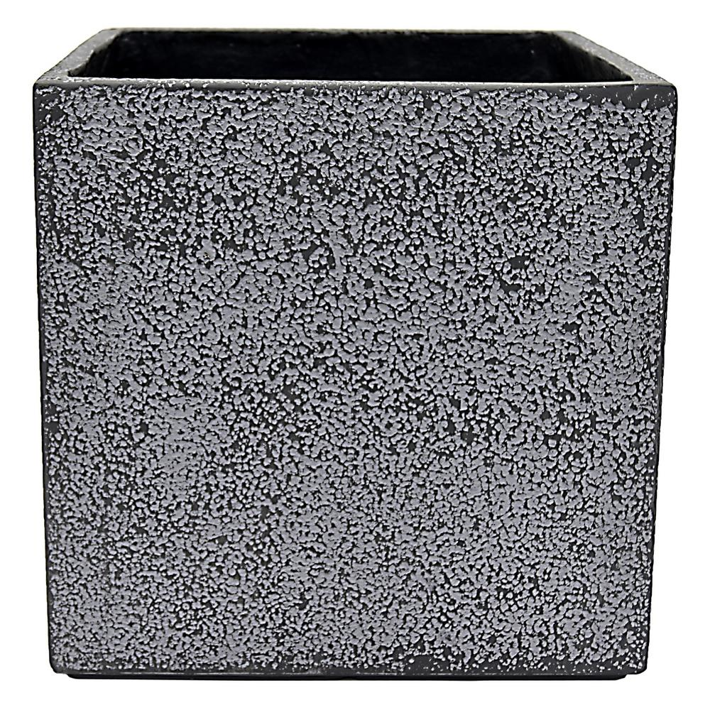 14.75 in. x 14.75 in. Planter-Large in Gray