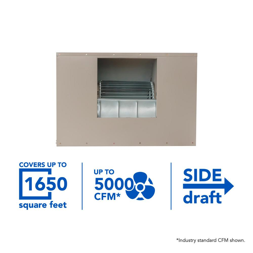 Mastercool 5000 Cfm Side Draft Wall Roof 8 In Media