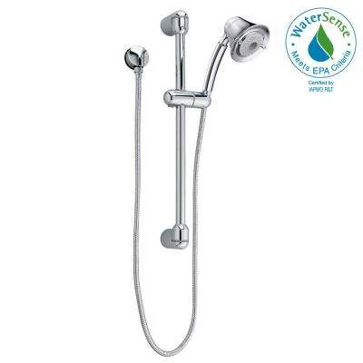 FloWise Transitional 3-Spray Wall Bar Shower Kit in Polished Chrome