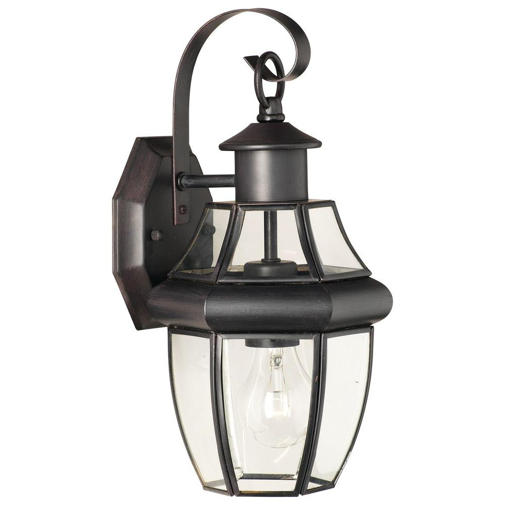 Thomas Lighting Heritage 1-Light Painted Bronze Outdoor Wall-Mount Lantern