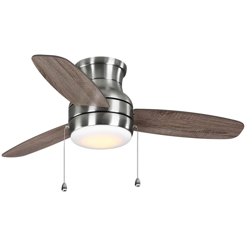 Home Decorators Collection Ashby Park 44 in. White Color Changing Integrated LED Brushed Nickel Ceiling Fan with Light Kit