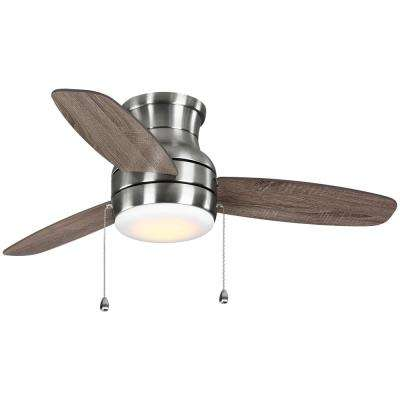 Ashby Park 44 in.  White Color Changing Integrated LED Brushed Nickel Ceiling Fan with Light Kit