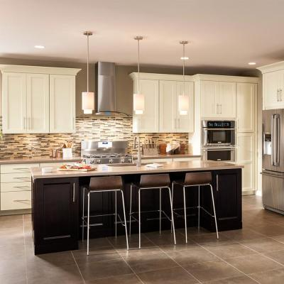 American Woodmark       Custom Kitchen Cabinets Shown in Transitional Style