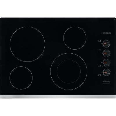 30 in. Radiant Electric Cooktop in Stainless Steel with 4 Elements including Quick Boil Element
