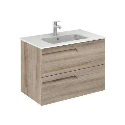 Vitale 32 in. W x 18 in. D Vanity in Nature Beige with Vanity Top in White with White Basin