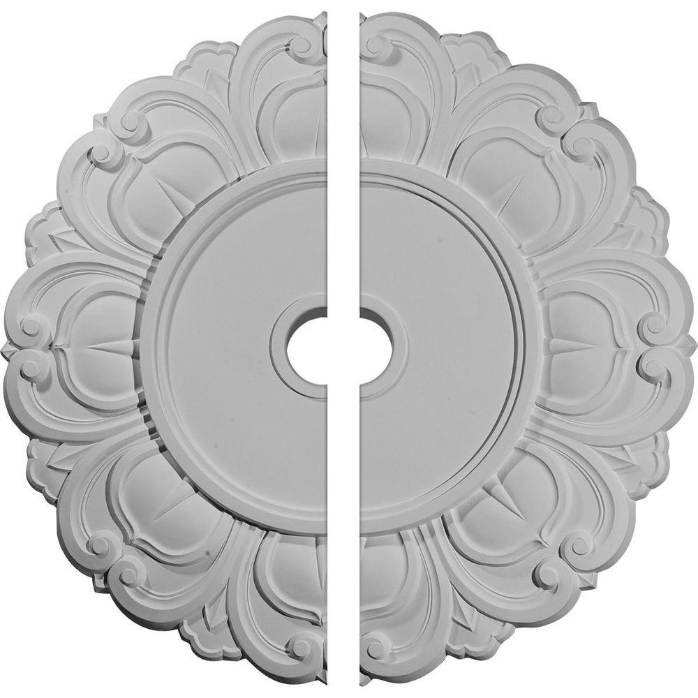 32-1/4 in. O.D. x 3-5/8 in. I.D. x 1-1/8 in. P Angel Ceiling Medallion (2-Piece)