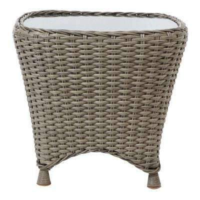 W Whethered Grey Patio Side Table