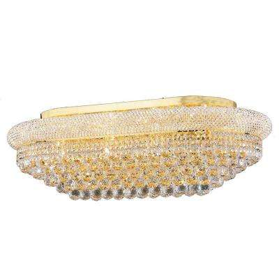 Empire Collection 18-Light Crystal and Gold Ceiling Light