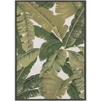 Dolce Palm Lily Hunter Green-Ivory 4 ft. x 6 ft. Indoor/Outdoor Area Rug