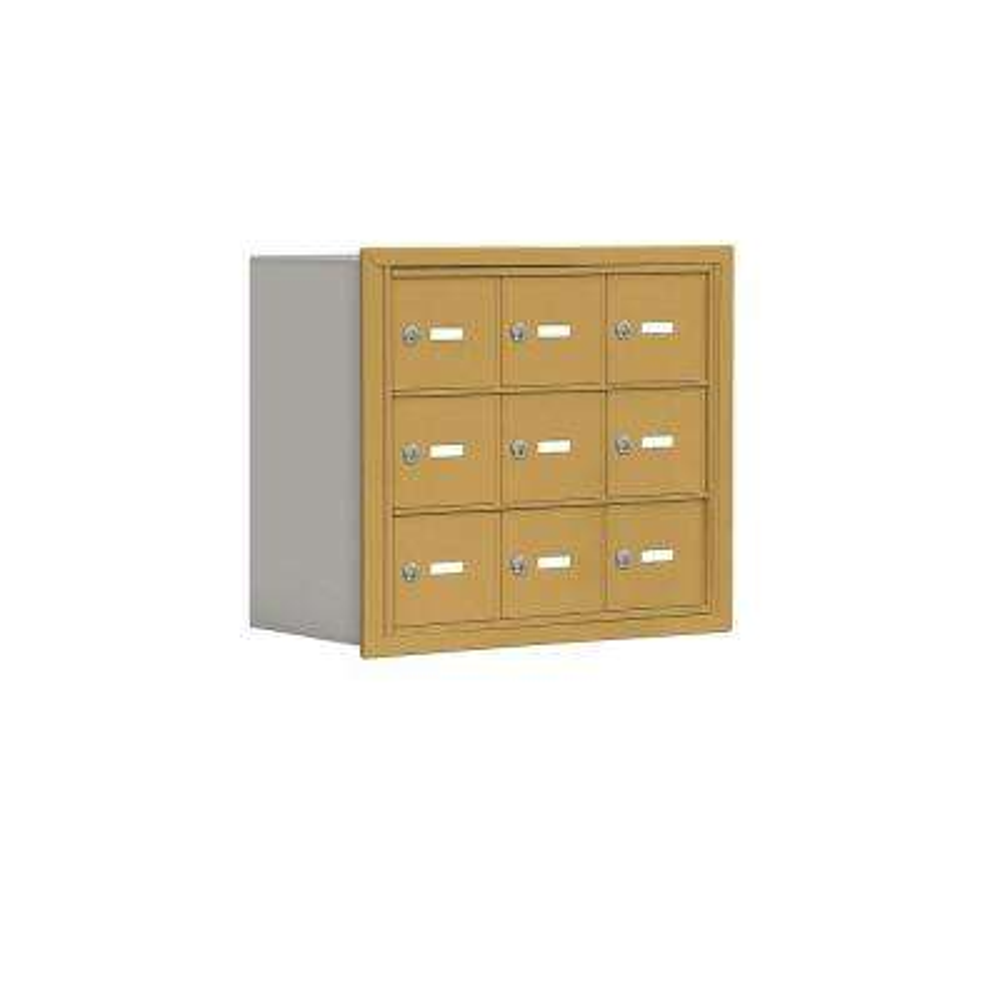 19000 Series 24 in. W x 20 in. H x 8.75 in. D 9 A Doors R-Mount Keyed Locks Cell Phone Locker in Gold