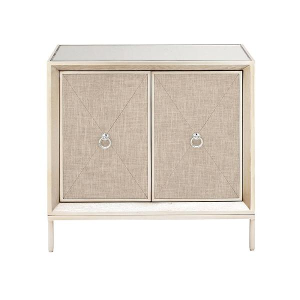 Litton Lane 32 in. W x 32 in. H Beige Metal,