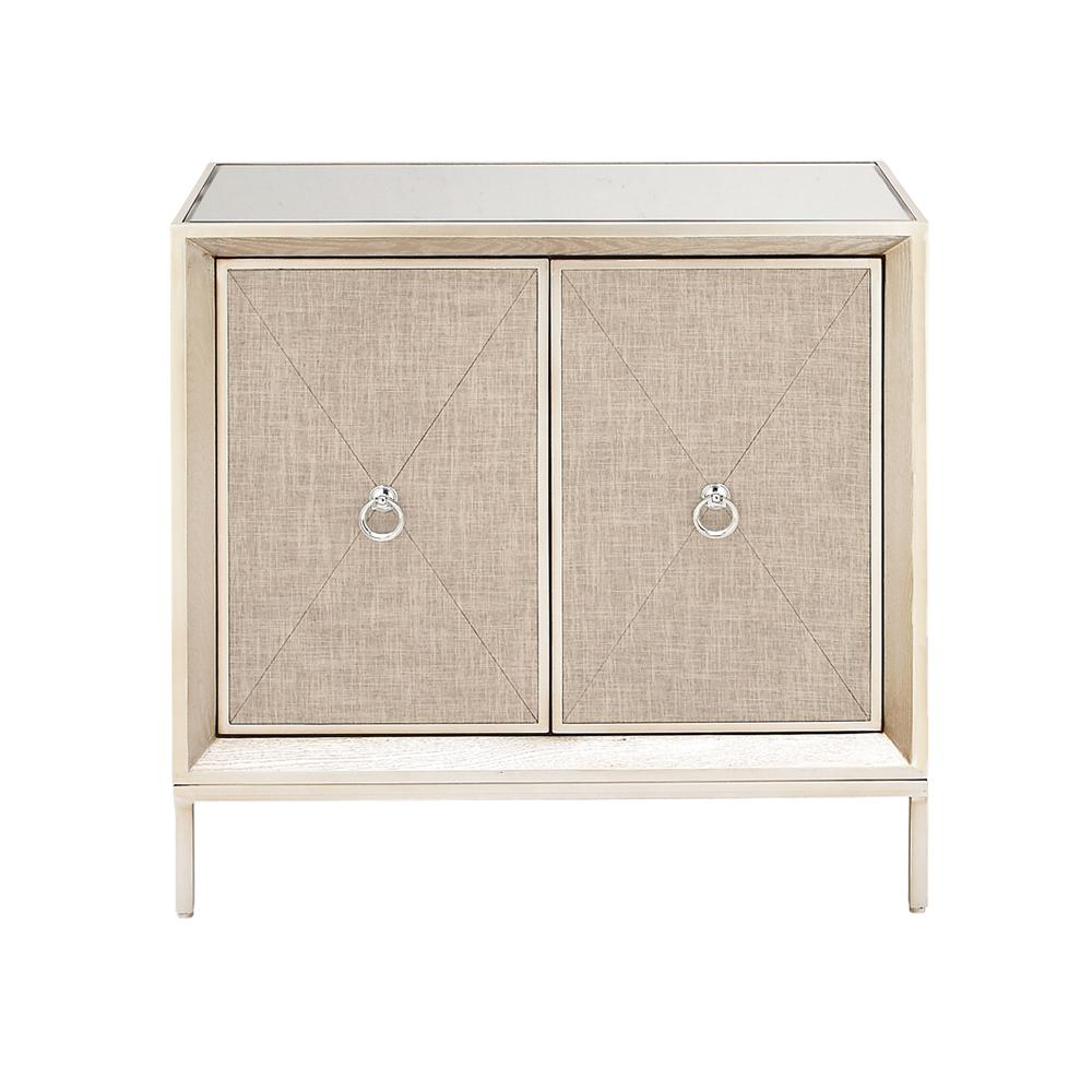32 in. W x 32 in. H Beige Metal, Wood, and