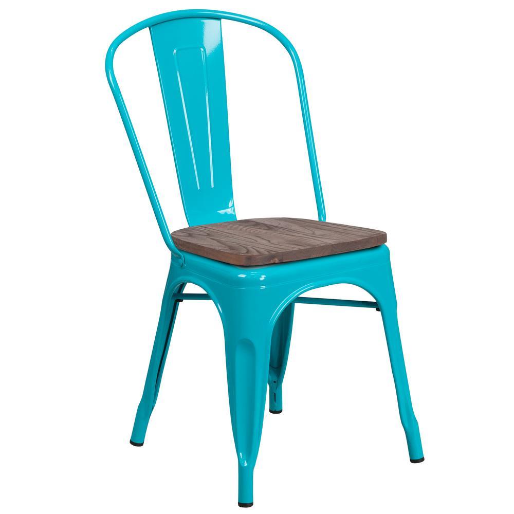 Carnegy Avenue Crystal Teal-Blue Side Chair CGA-ET-249939-CR-HD